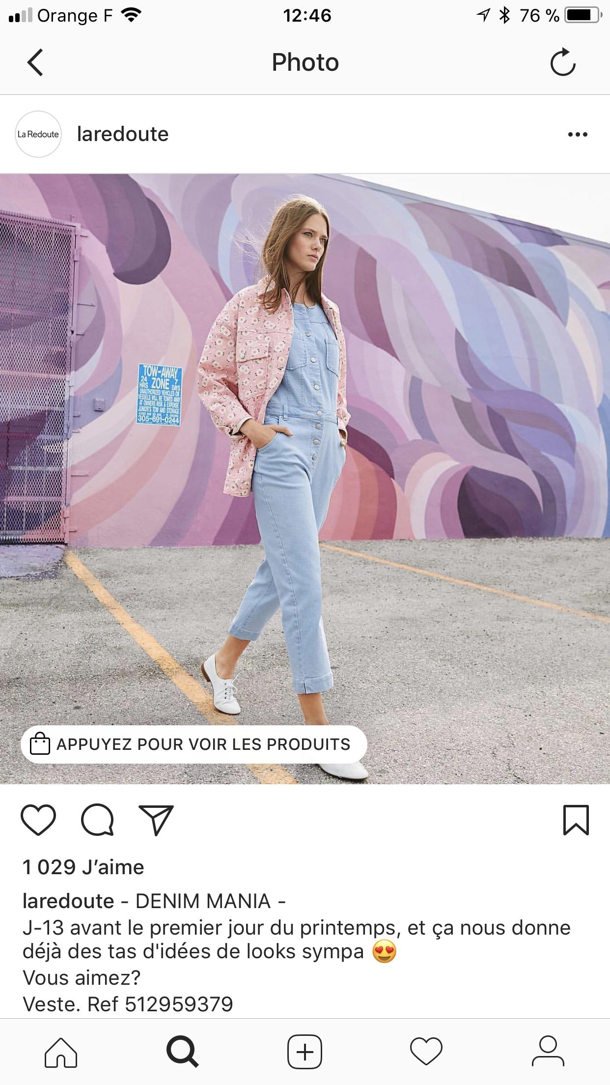 instagram lance une nouvelle fonctionnalit en france shopping agence des m dias sociaux. Black Bedroom Furniture Sets. Home Design Ideas