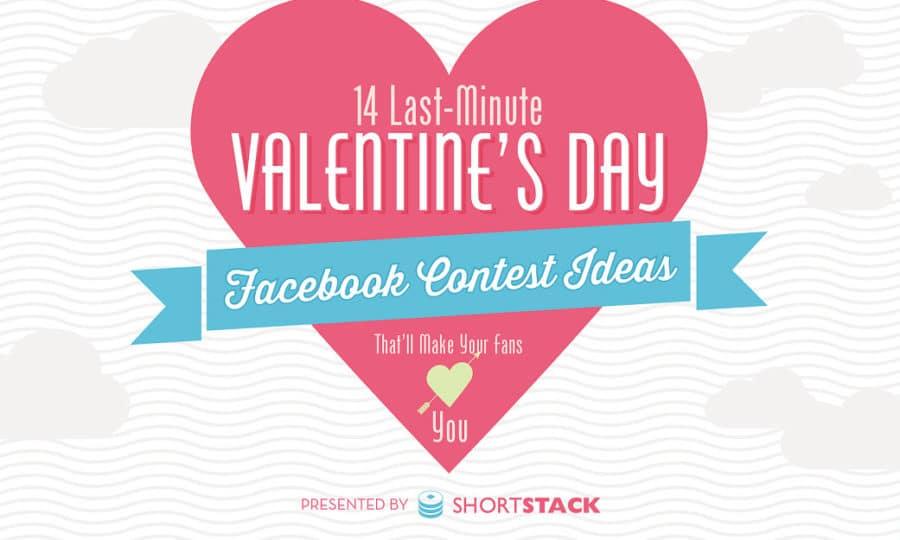 14 idées saint-valentin facebook contest
