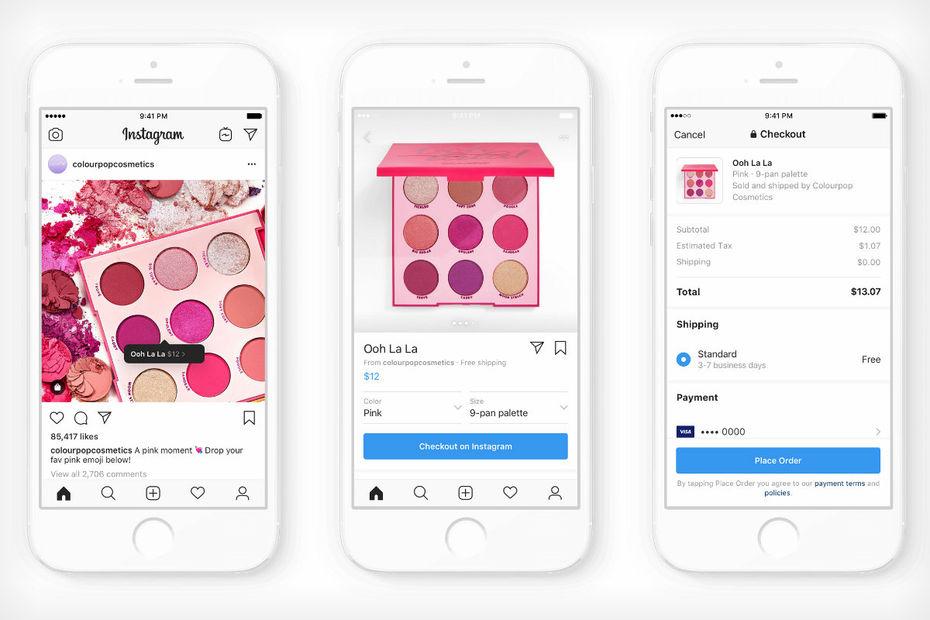Instagram Check Out pour le paiement