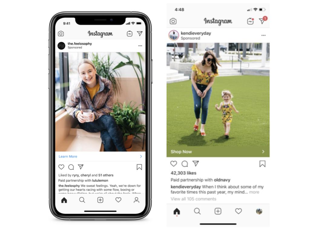 Instagram annonceurs influenceurs