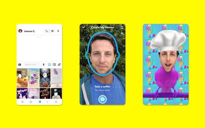 Snapchat lance Cameo