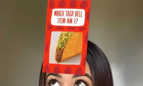 Filtre Instagram en réalité augmentée Taco Bell