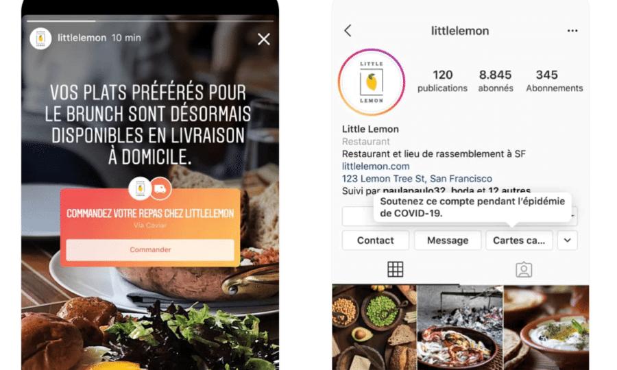 Sticker Instagram pour soutenir les restaurateurs