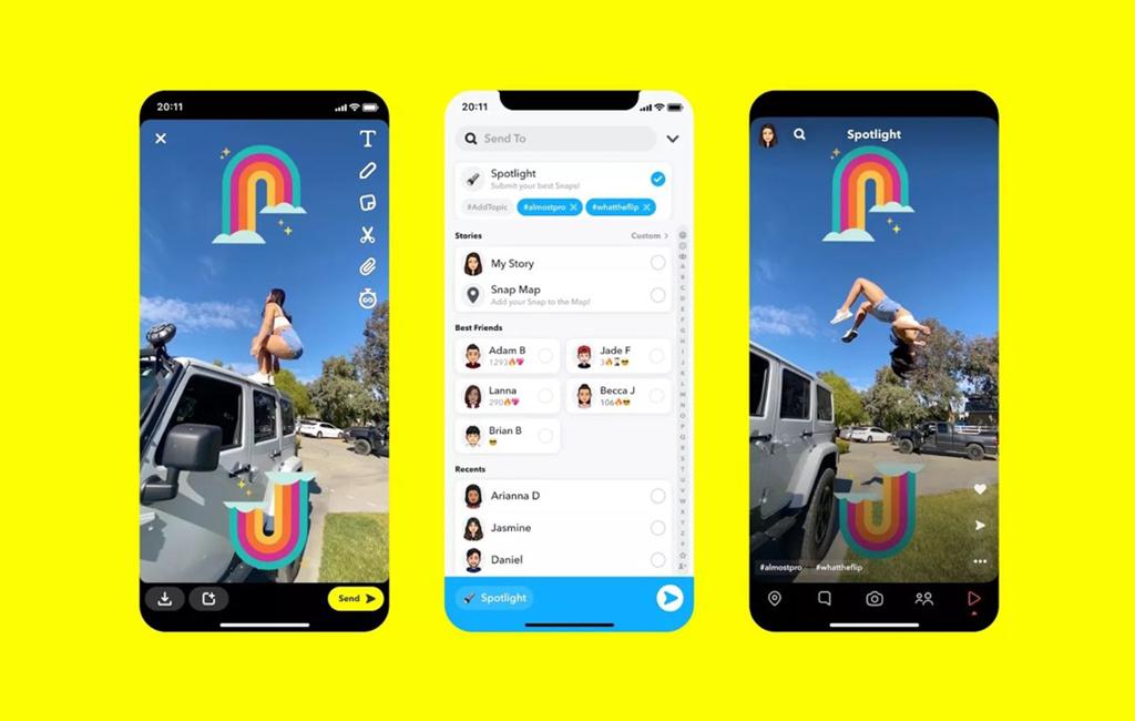 Snapchat présente Spotlight et concurrence TikTok