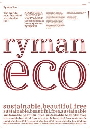 Typographie écologique